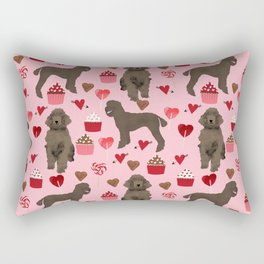 Poodle brown coat color valentines day pet portraits dog lover gifts dog breed portraits Rectangular Pillow