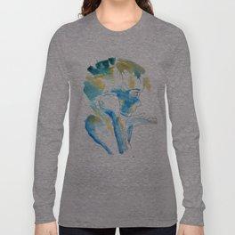 Blue & Yellow Silhouette Long Sleeve T-shirt