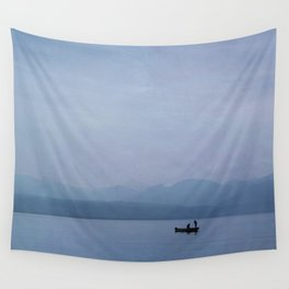 Sunrise on Lake Leman Wall Tapestry
