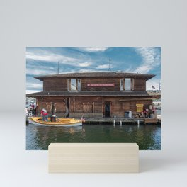 Boathouse at the Center for Wooden Boats Mini Art Print