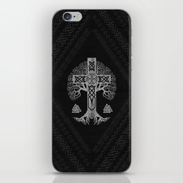 Tree of life  -Yggdrasil  and Celtic Cross iPhone Skin