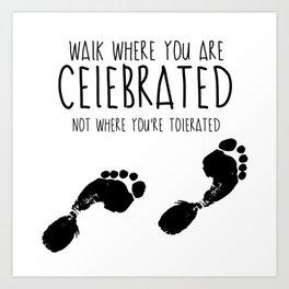 Footsteps Art Print