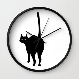 ooo cat Wall Clock