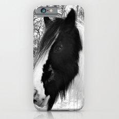 Horse. Black+White.Snow. iPhone 6s Slim Case