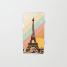 Rainbow Sky Above The Eiffel Tower Hand & Bath Towel