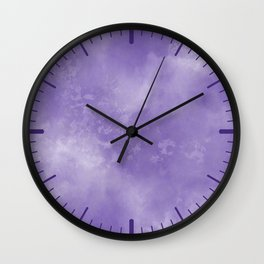 Abstract Watercolor in Ultra Violet Pantone color of year 2018 Wall Clock