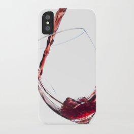 Elegant Red Wine Photo iPhone Case