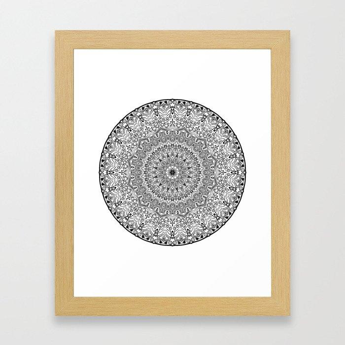 Mighty Mandala Framed Art Print
