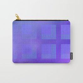 Blue and Purple Plaid Carry-All Pouch
