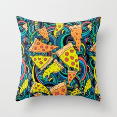 Pizza Meditation Throw Pillow