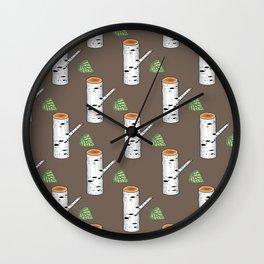 birch billets pattern Wall Clock