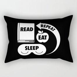 Read. Eat. Sleep. Repeat. Rectangular Pillow