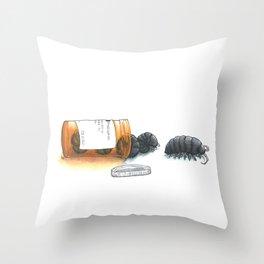 Pill bugs Throw Pillow