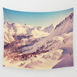 The Snow and the Mountain Wall Tapestry
