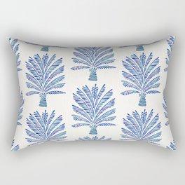 Palm Tree – Navy Palette Rectangular Pillow