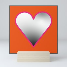 Rainbow Hearts - Orange Mini Art Print