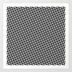 BLACK DOT Art Print