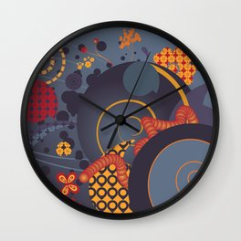 Somewhere Out In The Space Wall Clock