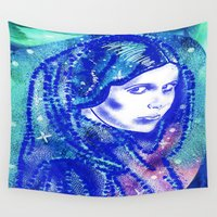 leia Wall Tapestries featuring Princess Leia by grapeloverarts