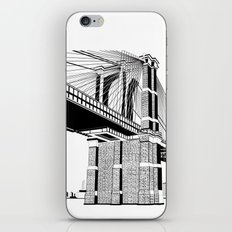 Brooklyn Bridge Black and White iPhone & iPod Skin