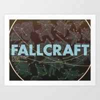 starcraft Art Prints featuring NYU Game Center Starcraft Tournament Poster by Rachel E. Morris