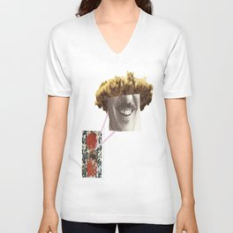 the craning neck, still tryin to swallow that cement tennis ball  Unisex V-Neck