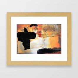 Orange Gold Abstract Art Framed Art Print