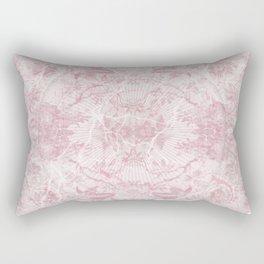 Spring Skulls Floral Background Rectangular Pillow