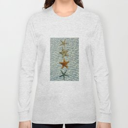 Beautiful starfishes under water Long Sleeve T-shirt