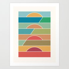 4 Degrees Art Print
