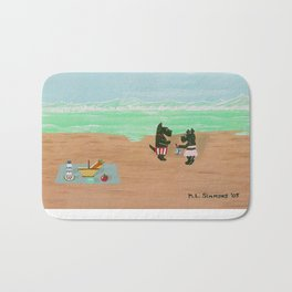 Seaside Scotties-Scottish Terriers Bath Mat