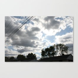 The clouds looked so vibrant, Canvas Print