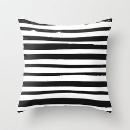 STRIPE BW Throw Pillow