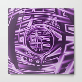 Keyhold Mesh (purple) Metal Print