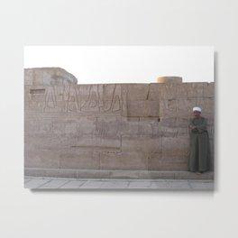 Guard at Karnak Temples in Karnak, Egypt (2005a) Metal Print