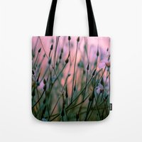 snatch Tote Bags featuring Dawn  by The Dreamery