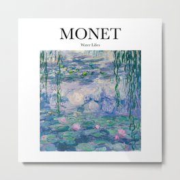 Monet - Water Lilies Metal Print