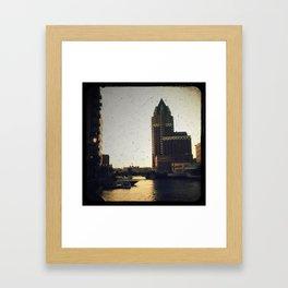 Milwaukee Dusk Framed Art Print