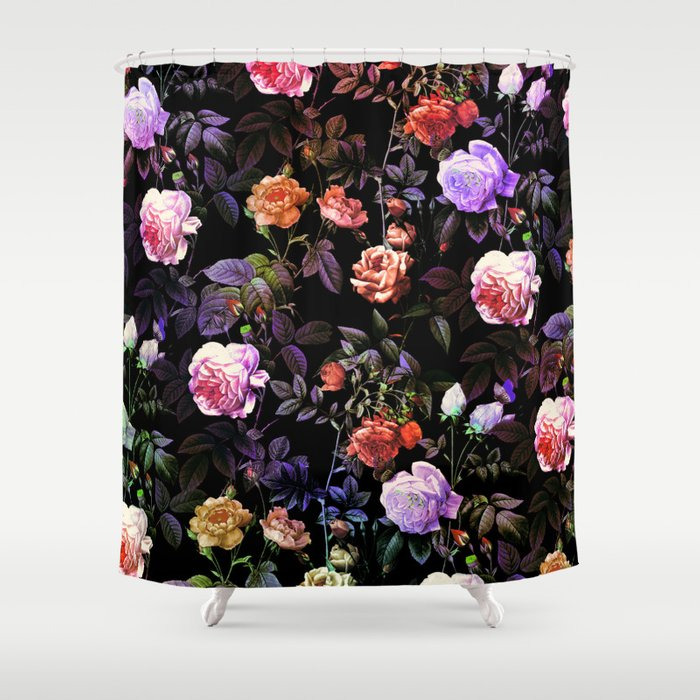 Night Forest III Shower Curtain
