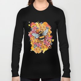 Neo Traditional Bee Long Sleeve T-shirt