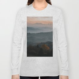 Hazy Mountains - Landscape and Nature Photography Long Sleeve T-shirt