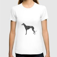 greyhound T-shirts featuring Greyhound by Carma Zoe