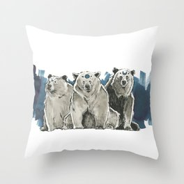 The Bear Clan Throw Pillow