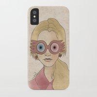 luna lovegood iPhone & iPod Cases featuring Luna Lovegood by Joan Pons