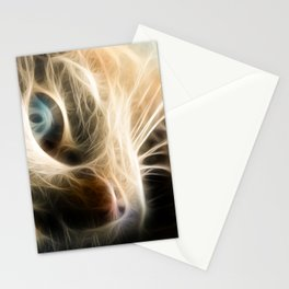 Abstract cat Stationery Cards