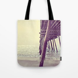 Pier at Sunrise with Glitter Tote Bag