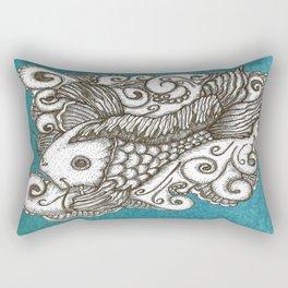 Sharpie Fish Rectangular Pillow