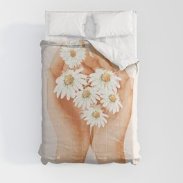 Hands Holding Flowers Comforters