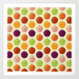 Cutie Fruity (Watercolour) Art Print