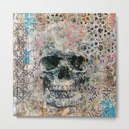 Old Skull Memories Metal Print